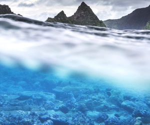 ocean, mountains, and sea image