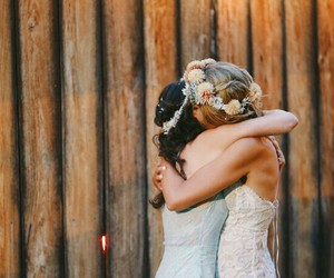 wedding, friends, and love image