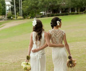 beautiful, lovely, and bride image