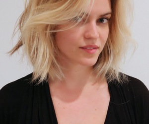 blond, bob, and hair image