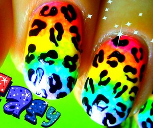 fashion, gradient, and leopard print image