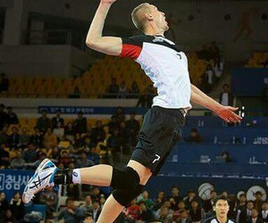 asics, volleyball, and handsome image