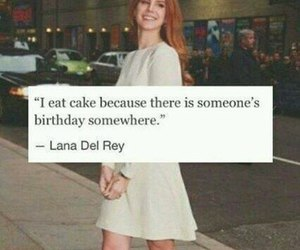 lana del rey, cake, and birthday image