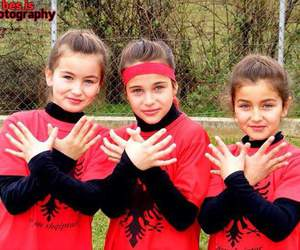 girls, proud, and red and black image