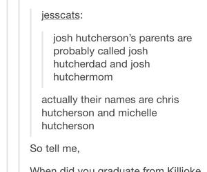 funny, tumblr, and josh hutcherson image