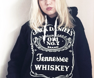alcohol, badass, and blonde image