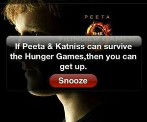 peeta, katniss, and the hunger games image