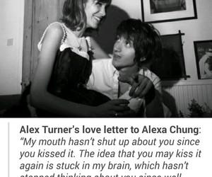 alex turner, alexa chung, and love image