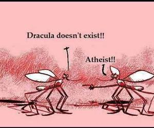 Dracula, atheist, and lol image