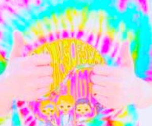 bright, colors, and hands image