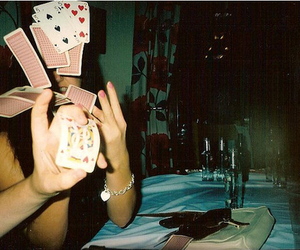 cards, girl, and indie image