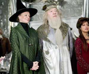 dumbledore, goblet of fire, and harry potter image
