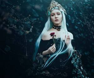 crown, dark, and fantasy image