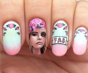 nails, lana del rey, and nail art image