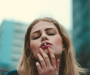 cigarette and girl image