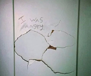 angry, grunge, and wall image