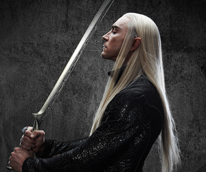 the hobbit, thranduil, and elf image