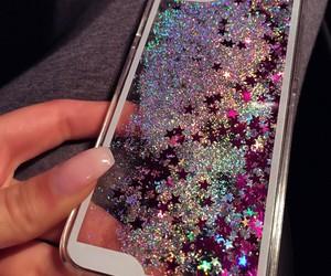 glitter, case, and stars image