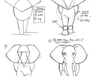 art, elephant, and tutorial image