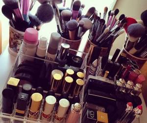 make up, makeup, and lipstick image