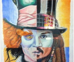 johnny depp, Willy Wonka, and jack sparrow image