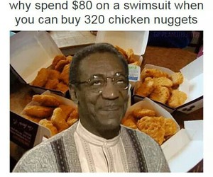 funny, swimsuit, and nuggets image
