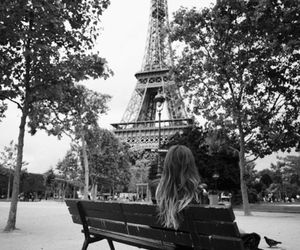 bench, france, and girl image