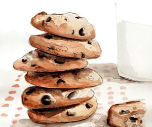 Cookies, draw, and food image