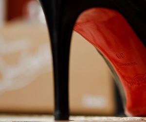 christian louboutin, shoes, and black image