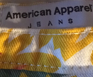 american apparel, yellow, and jeans image
