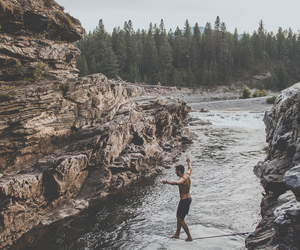 boy, nature, and river image