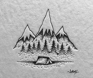 inspiration, mountains, and tattoo image
