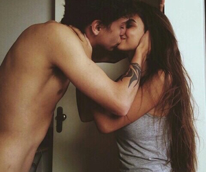 couple, kiss, and passion image
