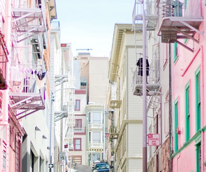 pastel, pink, and street image