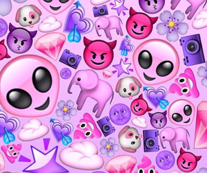 emoji, pink, and purple image