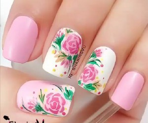 nails, peace, and pink image