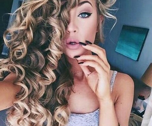 blue eyes, hair, and curls image