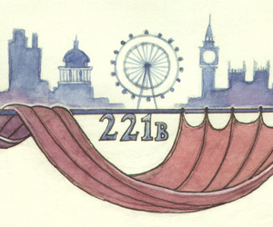 london, sherlock, and 221b image