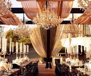 wedding, beautiful, and chandelier image