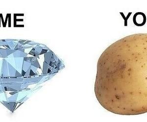 me, diamond, and you image