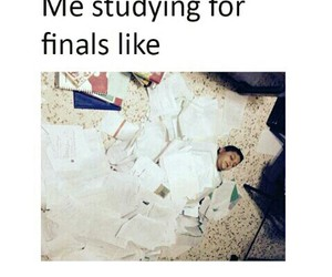school, funny, and studying image