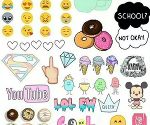 wallpaper, emojis, and cute image
