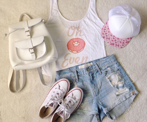 outfit, shoes, and shorts image