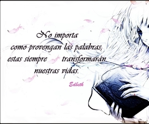 anime, flores, and frase image