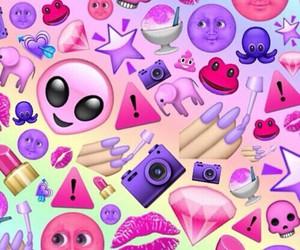 pink, emoji, and wallpaper image