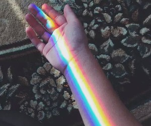 rainbow, grunge, and colors image