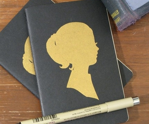 Etsy :: cutiepiecompany :: golden girl, moleskine cahiers notebook