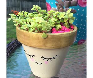 diy, flower pot, and flower image