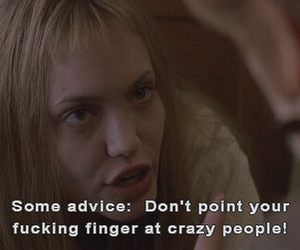girl interrupted, Angelina Jolie, and crazy image