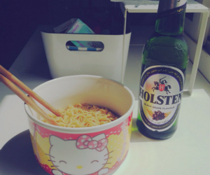 drink, eat, and hello kitty image